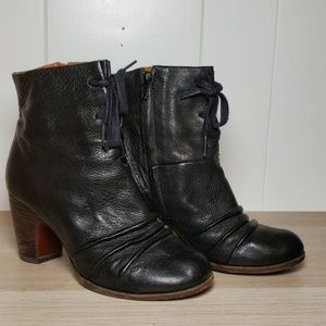 Chie Mihara Black Bandido Leather Ankle Boot
